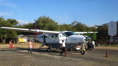 """Ankunft auf dem """"Flughafen"""" von Tamarindo"""