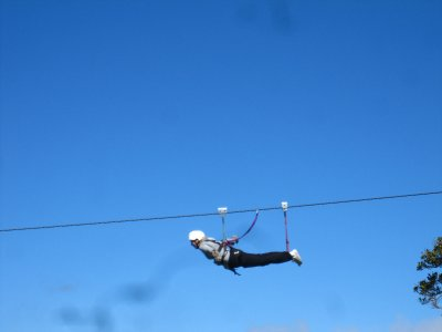 Die 'Superman' - 1000m Zipline