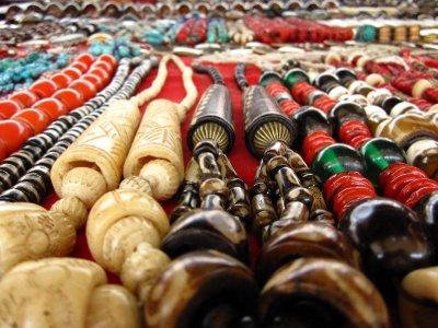 Gebetsketten auf dem Markt in Shigatse