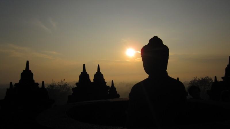 Borobudur bei Sonnenaufgang