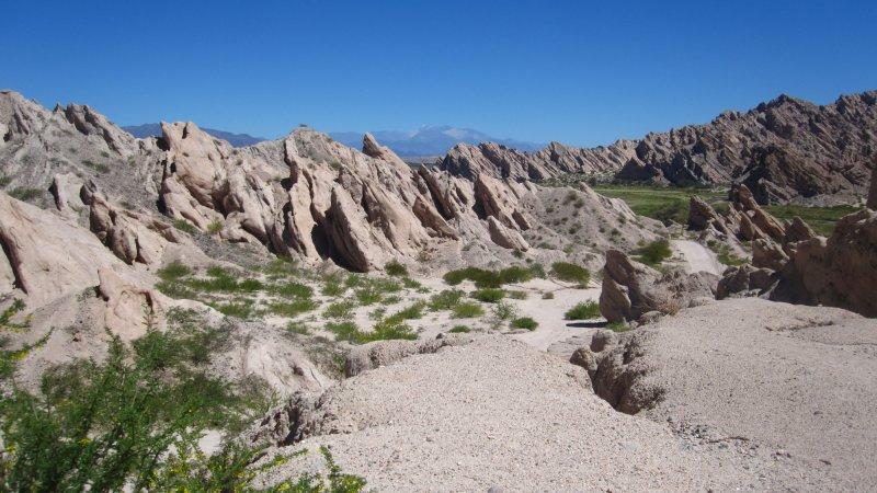 Bizarre Steinformationen entlang der Ruta 40 zwischen Cafayate und Cachi