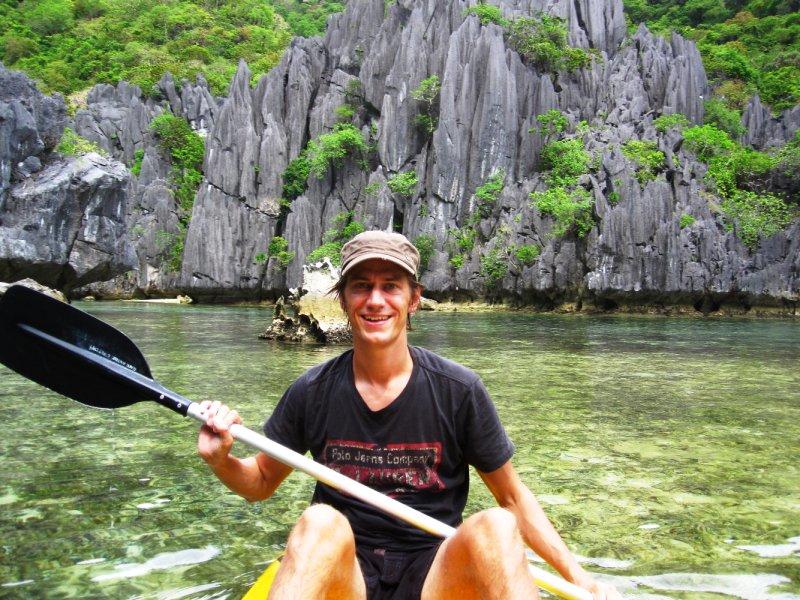 Mit dem Kanu unterwegs im Bacuit Archipel