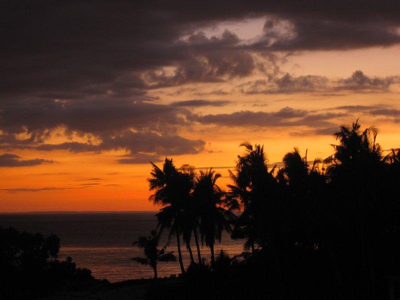 Sonnenuntergang von unserem Balkon auf Malapascua