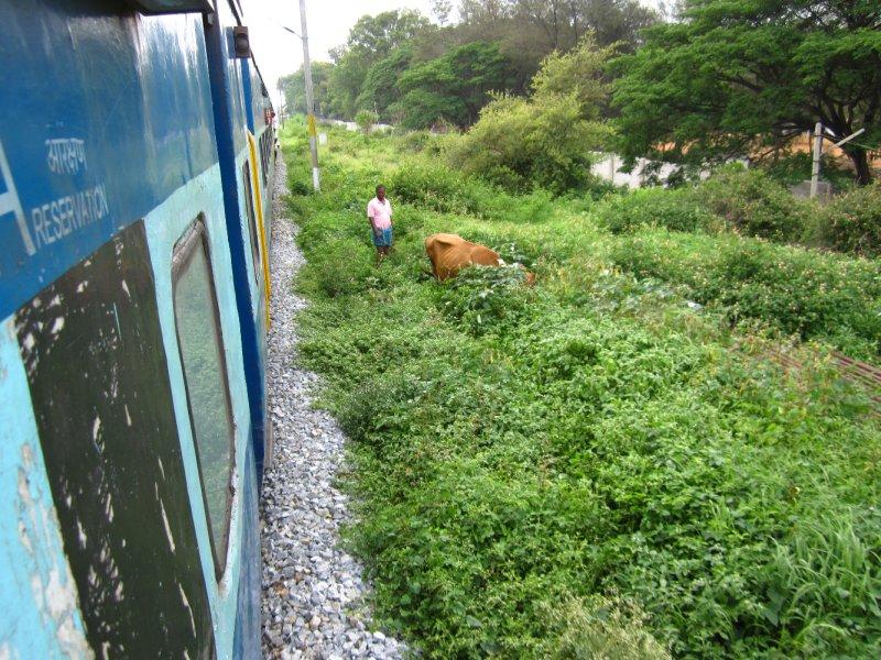 Unterwegs im Zug nach Bangalore