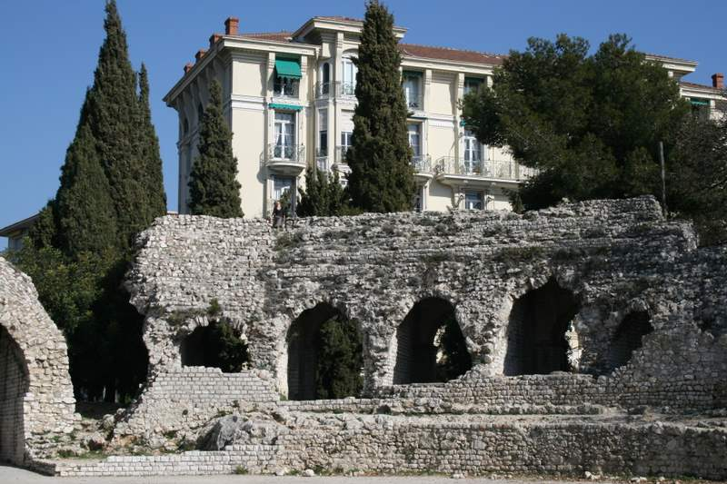 The roman ruins in Nice