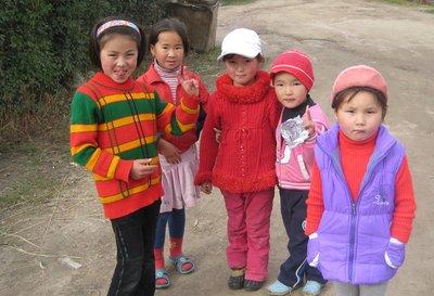 Kyrgyz village children