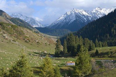 Kyrgyzstan mountain peaks