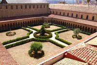 The cloister of the abbey of Monreale (Sicily, Italy)