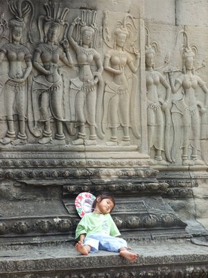 sweet little girl at Angkor Wat