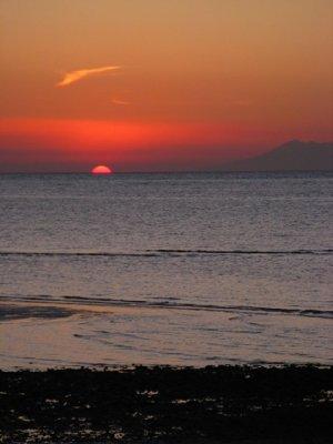 Zonsondergang bij Lovina