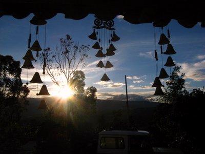 Zonsondergang bij Renacer Guesthouse in Villa de Leyva