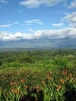 Zicht op vallei en Armenia