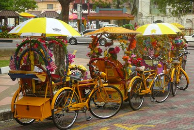 8. Melacca rickshaws