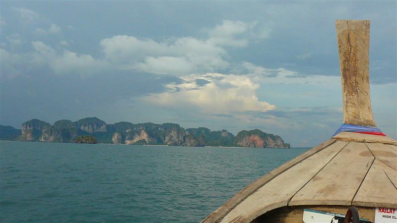 Krabi longboat from Poda Island