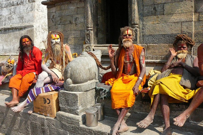 6. Holy men at Pashupatinath