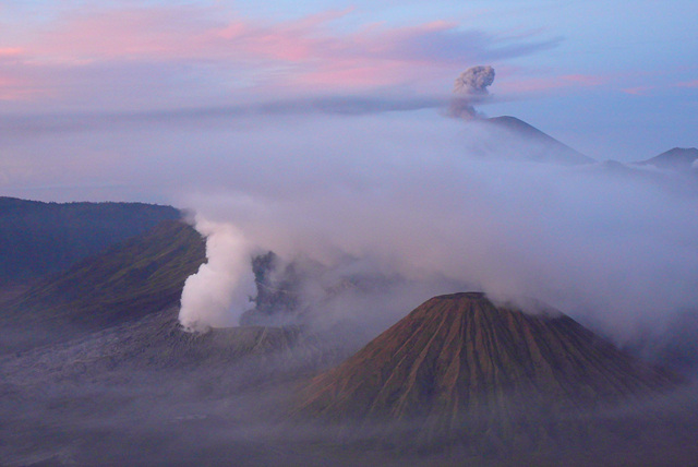 8. Volcanoes in Tengger Caldera Crater