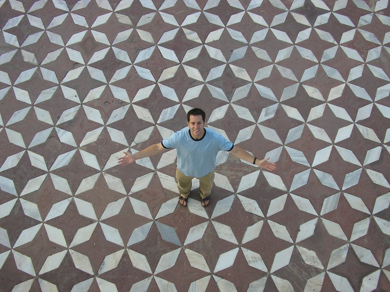Floor of the Taj Mahal