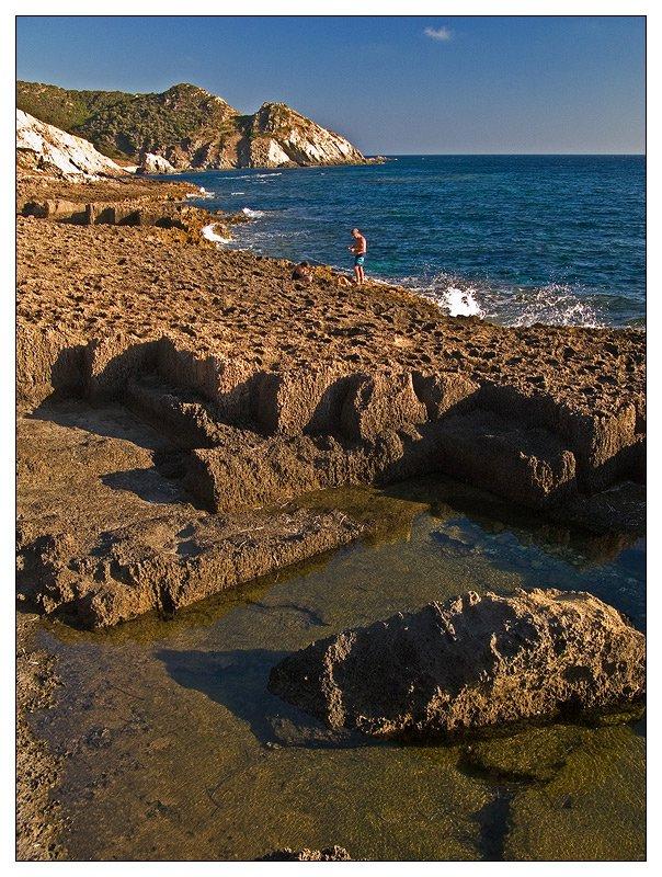 A rugged coast