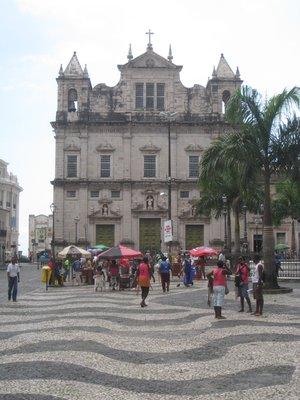 Salvador plaza scene