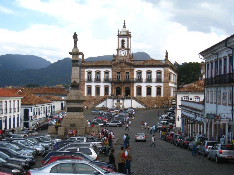 Praça Tiradentes in Ouro Prêto