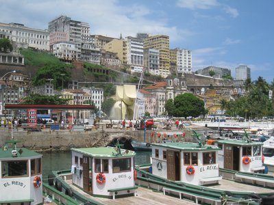 Salvador from the harbor