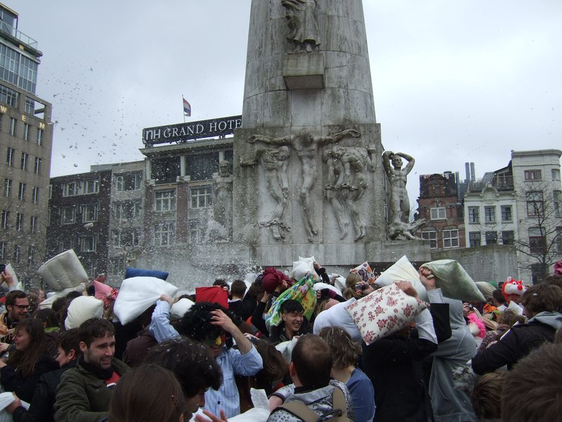 Amsterdam on World Pillow Fight Day 2009