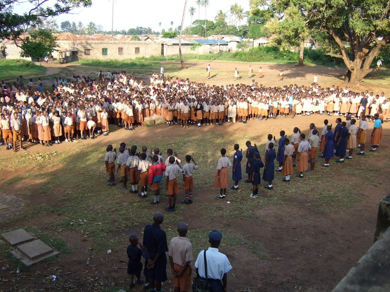 Morning Assembly in Maweni Primary School in Mombassa.