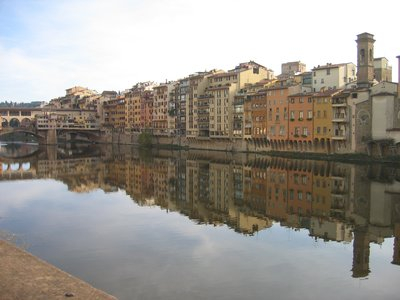 Beautiful reflections in Florence