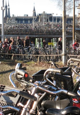 Amsterdam's bike parking lot