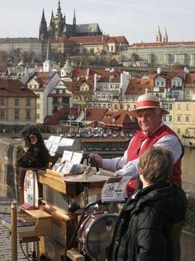 Busking on the Charles Bridge, Prague
