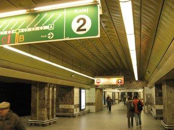 Prague Metro platform