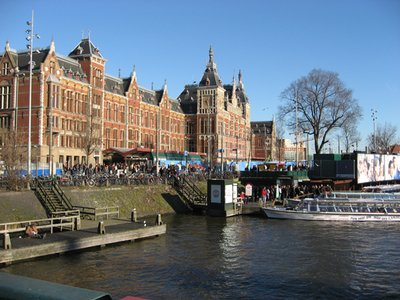 Starting point for Amsterdam canal cruise