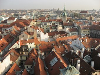 Prague from high