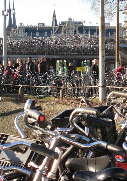 Amsterdam's bike parking lot