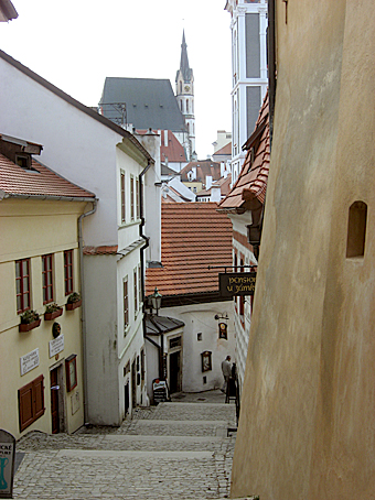 Stepped laneway, Cesky Krumlov