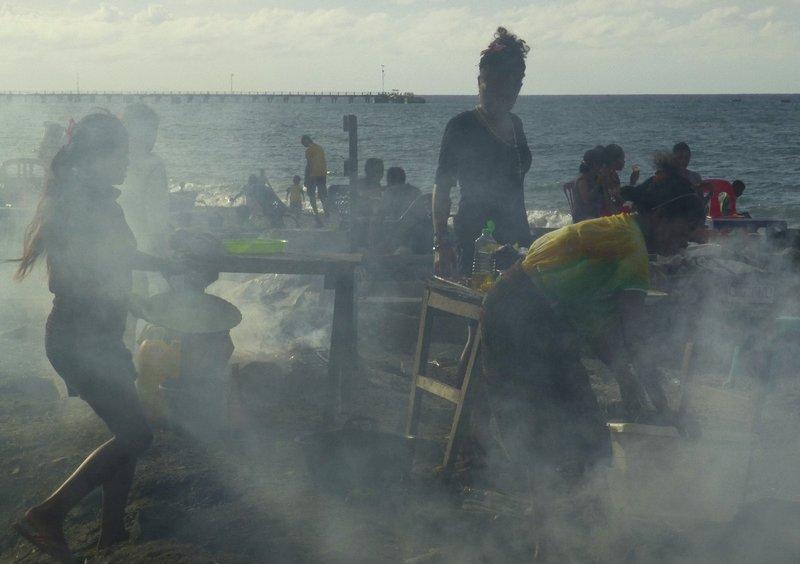 BBQ on Dili beach