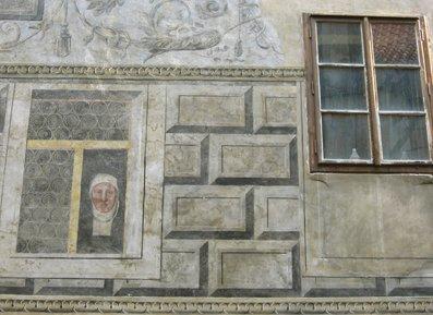 Painted window, Cesky Krumlov
