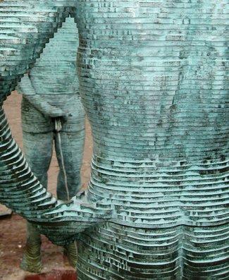 Černý's Piss sculture
