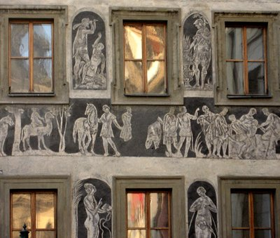 sgraffito, Prague