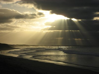 Morning rays over Point Lonsdale