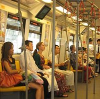 Travelling on the Skytrain, Bangkok