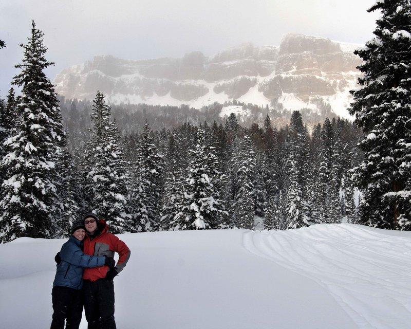 Toni & Breezy snowshoeing