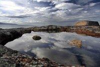 Tasmania coast bicheno rocks