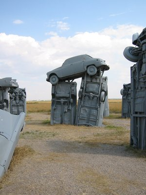 Up close view of carhenge