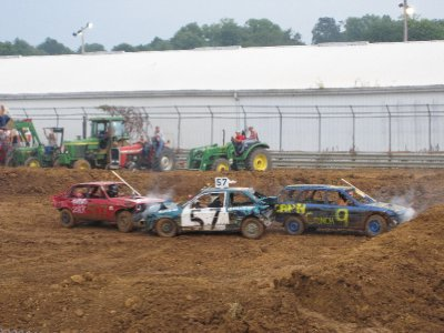 Three way crush at the Demo Derby