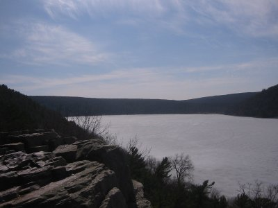 Devil's Lake frozen