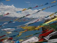 Namsto Lake and Prayer Flags
