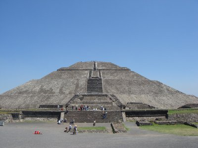 A view of the Pyramid of the Sun