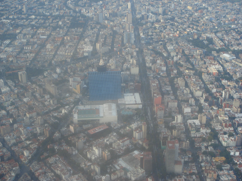 Aerial view of the City of Mexico, District Federal