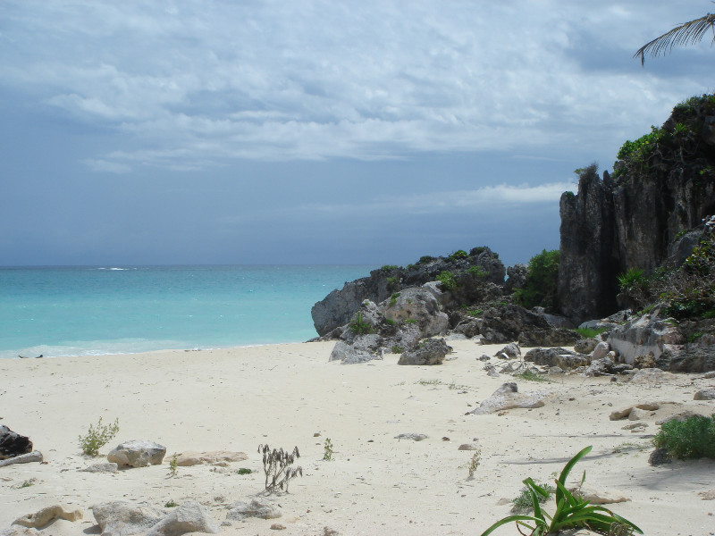 A view of the Tulum Beach